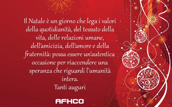Il Natale è un giorno che lega i valori della quotidianità, del tessuto della vita, delle relazioni umane, dell'amicizia, dell'amore e della fraternità: possa essere un'autentica occasione per riaccendere una speranza che riguardi l'umanità intera.